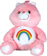 Cheer Care Bear with Rainbow Logo