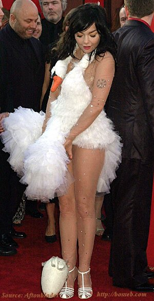Bjork Swan Dress with Egg