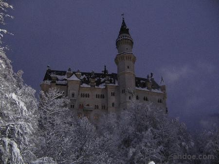Neuschwanstein Castle in Night