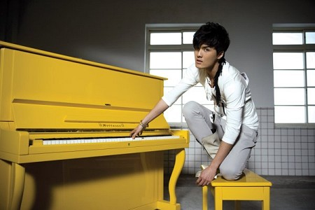 Kenji Wu and his Yellow Piano
