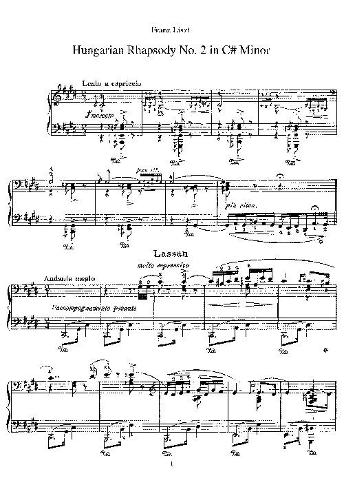 Hungarian Rhapsody No 2 by Liszt