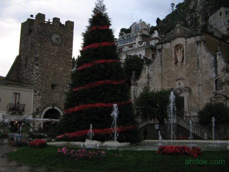 Christmas Tree in Taormina, Sicily