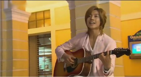 Kim Hyun Joong Playing Guitar